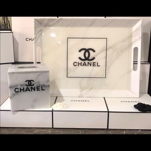 Chanel Tray and Tissue Holder